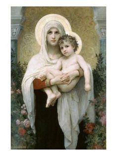 Madonna of the Roses Art Print by William Adolphe Bouguereau at Art.com