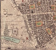 Map showing Oxford Street and various squares. Grosvenor Square was the heart of Mayfair. London Map, Old London, London Places, Hyde Park Corner, Vintage Maps, Antique Maps, London History, Romance Authors, Regency Era