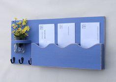 Mail Organizer  Mail And Key Holder  Key Hooks  by LegacyStudio, $39.95