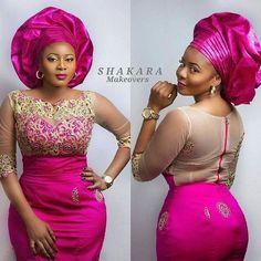 Pink Perfection! Lovely Bridal Inspiration....Glam Team ~ Styled by @BlessingOlowo ~ Model @Okerchiri ~ Makeup @Shakaramakeovers ~ Photog @Bedge_pictures #WDNTrad #WeddingDigestNaija #WeddingDigest