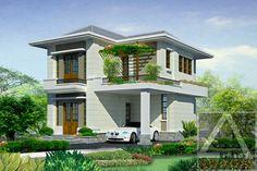 kiến trúc nhà phố Beautiful Homes, Vietnam, House Plans, Villa, Images, Exterior, Mansions, House Styles, Modern