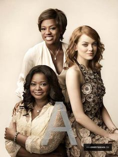 The help:::::: Emma Stone, Viola Davis and Octavia Spencer (missing Bryce Dallas Howard)