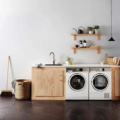 Garage laundry ply wood