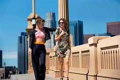 'Blue Is the Warmest Color' Fashion in L.A. - French Actresses Lea Seydoux and Adele Exarchopoulos - ELLE