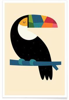 Rainbow Toucan - Andy Westface - Premium Poster