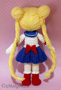 Sailor Moon Plush Amigurumi Doll Crochet Pattern Only