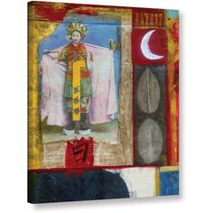 Elena Ray Chinese Moon Queen Gallery-Wrapped Canvas Art, Size: 18 x 24, Silver