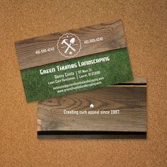 Business card for landscaping gardening lawn maintenance make your business card stand out with an ultra thick stock choose one of our many designs or upload your own add your text company logo or image ccuart Images