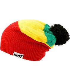 be6d5715591 bright colored Raste Pom beanie by Neff Christmas Gifts For Girls
