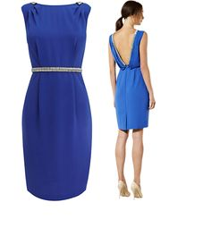 cool blue dress - classy in the front, party in the back?