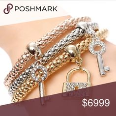 COMING SOON Gorgeous bracelets with blinged keys or boxed charms. You pick your favorite ! Jewelry Earrings