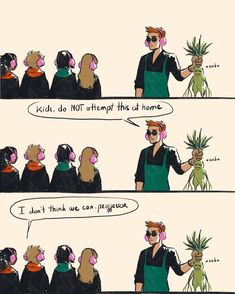 Crowley Never Kills The Plant Harry Potter Crossover, Fandom Crossover, Good Omens Book, Angels And Demons, Harry Potter Memes, Drarry, Crowley, Fantastic Beasts, Hogwarts