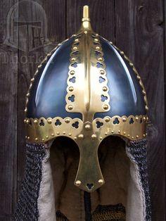 Replica of the Gnezdovo helmet, late 9th century, Gnezdovo village in the Smolensk region of Russia.
