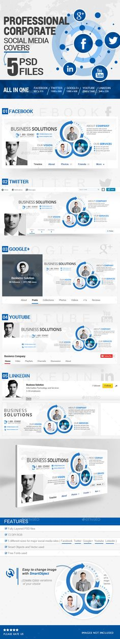 Twitter Profile Cover - Corporate Promotion | Pinterest | Template ...