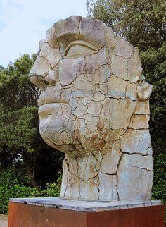 Monumental Head Sculpture by Igor Mitoraj in Boboli Gardens,Florence,Italy