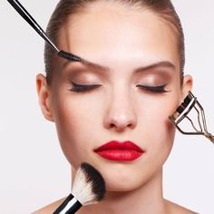 The Right Way to Put On All Your Makeup-Learn how to apply your makeup the right way with these makeup artist beauty tips. From blending foundation to getting lipstick to last all day, we got all the best beauty tips to help you make the most of your makeup essentials.