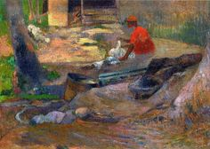 A Little Washerman by Paul Gauguin in oil on canvas, done in Now in a private collection. Find a fine art print of this Paul Gauguin painting. Paul Gauguin, Oil Canvas, Oil Painting On Canvas, Canvas Art, Van Gogh Museum, Impressionist Artists, Impressionism Art, Nordic Art, Art Moderne