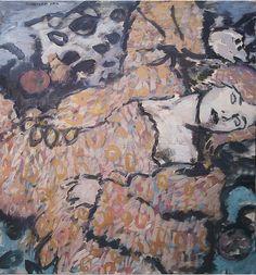 """Saatchi Online Artist: Robert Andersen; Oil, 2012, Painting """"relaxing girl"""""""
