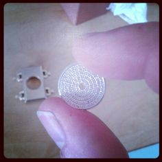 """Hand made diamond dial for our new model """" Dame de caractère"""" *** Cadran diamant fabriqué à la main pour notre nouveau modèle """"Dame de caractère"""""""