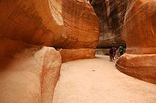 Passage that leads into Petra.  Reminds me of Indiana Jones!