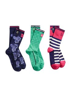 French Navy Brillbamset Womens Bamboo Socks Set , Size One Size | Joules US