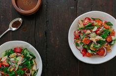 FATTOUSH SALAD Work Lunches, Caprese Salad, Seafood, Dinner Recipes, Salads, Insalata Caprese, Sea Food, Salad, Supper Recipes