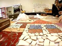 La Magia del Mosaico - wall mural on mesh - community project