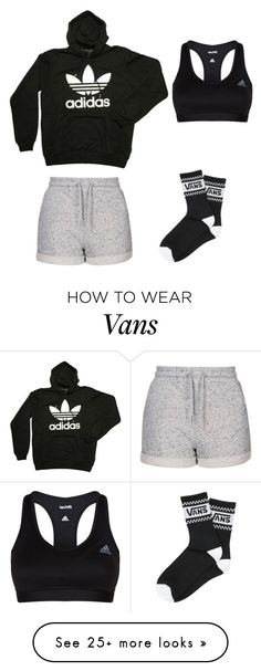 """Untitled #108"" by min1993 on Polyvore featuring Topshop, adidas and Vans"
