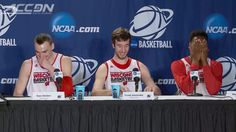 Badgers' Nigel Hayes didn't know his microphone was on  After teasing stenographer with difficult word, he then proclaims her beauty