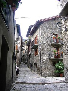 Un Carrer de Llavorsí  Lleida  Catalonia