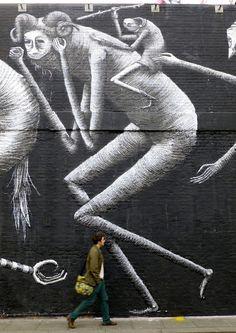 Phlegm. Street Art London http://www.creativeboysclub.com/