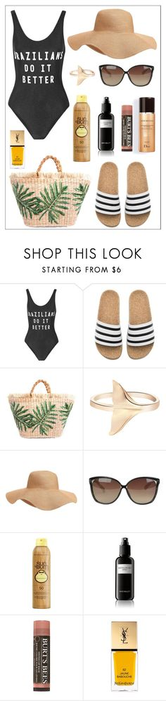"""""""The Brazilian Girl"""" by itsmarianaalves ❤ liked on Polyvore featuring ADRIANA DEGREAS, adidas, Old Navy, Linda Farrow, Sun Bum, David Mallett and Yves Saint Laurent"""