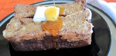 Pumpkin Bread French Toast (nut free) - pumpkin seeds, pumpkin puree, dates, coconut flour, coconut oil, honey, vanilla, cinnamon, nutmeg, ginger, cloves, baking soda/powder, salt, coconut milk, egg