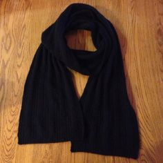 NWOT Black Knit Cashmere Scarf Soft cashmere scarf. Never worn. NWOT. Accessories Scarves & Wraps