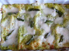 la pancia del lupo: Lasagne con asparagi e burrata