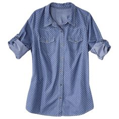 Xhilaration® Juniors Plus-Size Long-Sleeve Denim Shirt - Assorted Colors