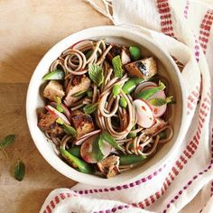 Soba Noodle Salad with Pork, Snap Peas, and Radishes Recipe | CookingLight.com