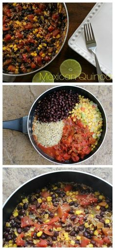 One Pot Mexican Quinoa Recipe on Having Fun Saving and Cooking