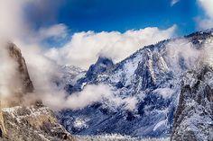 Parque Nacional de Yosemites na montanhas da serra nevada Califórnia