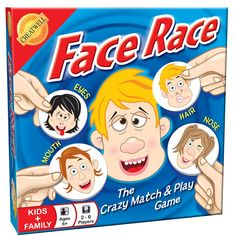Our new face race game will be adored by kids age 6 - lots of family fun!
