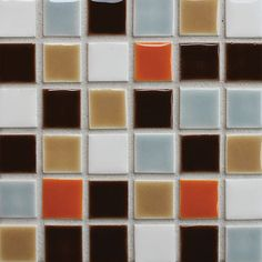 Kitchen backsplash, house + earth tile from Clayhaus Ceramics.  Make own variety to match the house better.