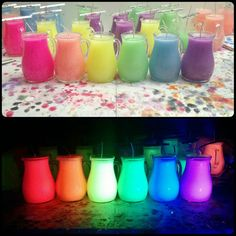 UV Wax Play Pitcher Candle - Low Temp - BDSM - fluorescent Kink candles - Unscented Bondage Candle - Black Light Reactive