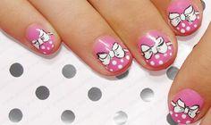 Beautiful child's nails, Beautiful kid nails, Child's nails, Kid nails with pattern, Nails with a painting, Nails with dots, Polka dot nails, Short nails