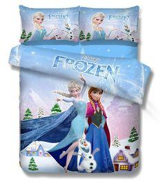 New Arrival Frozen Bedding Twin Full Size Duvet Cover Set for Kids Frozen Anna Bedding Sets 100% Cotton Bedding for Kids US $64.90 - 74.90