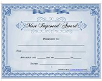 Award certificate templates overall most improved pinterest free printable most improved awards certificates templates yadclub Gallery