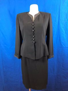 #AlbertNiponEvening Midnight Blue #BlazerSuite Sz 16 | #eBay #greatgifts #womensclothing #onlineshopping #onlineboutique #boutique #gifts #fashion #cute #plussizefashion https://www.ebay.com/itm/172979318407