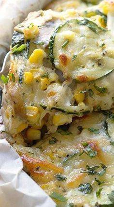 Sweet Corn and Zucchini Pie - Good health isn't complicated, you just need to gi. - Sweet Corn and Zucchini Pie – Good health isn't complicated, you just need to give your body th - Side Dish Recipes, Vegetable Recipes, Vegetarian Recipes, Cooking Recipes, Healthy Recipes, Grilled Vegetable Salads, Dinner Recipes, Vegetarian Cookbook, Fast Recipes