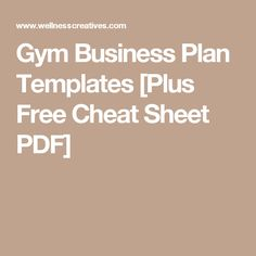 Gym business plan templates plus free cheat sheet pdf for jimmy gym business plan templates plus free cheat sheet pdf flashek Gallery
