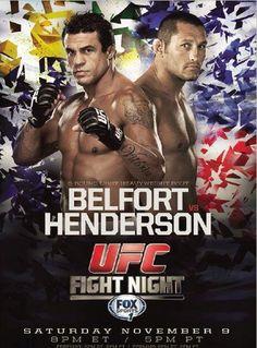 UFC Fight Night 32: Belfort vs. Henderson 2 Fightcard