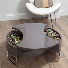 Hourglass Storage Coffee Table - Unique Modern Furniture - Dot & Bo